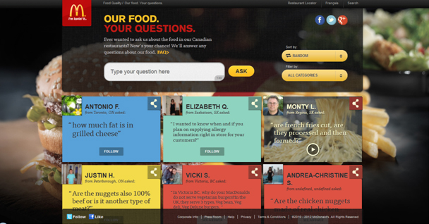 Our Food. Your Questions